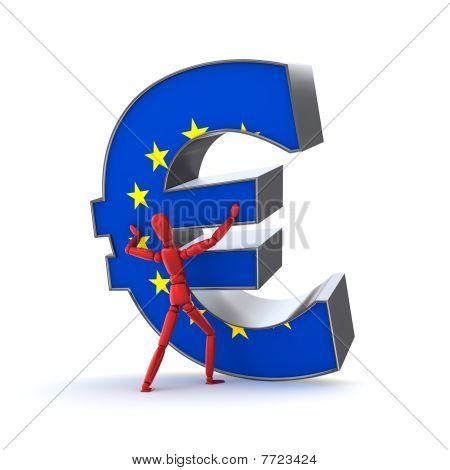 Keeping Up The Euro - European Union Flag