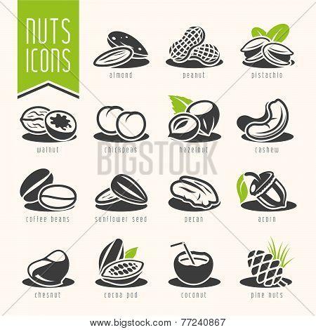 Nuts icon set
