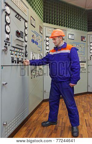 Engineer Starts Turbine