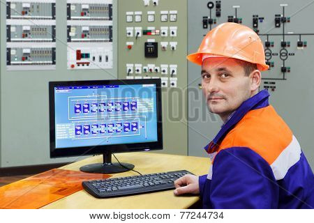 Engineer At The Computer