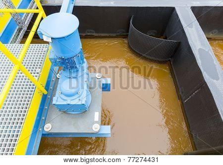 Rainwater treatment plant (RWTP). Environmentally friendly smelter. poster