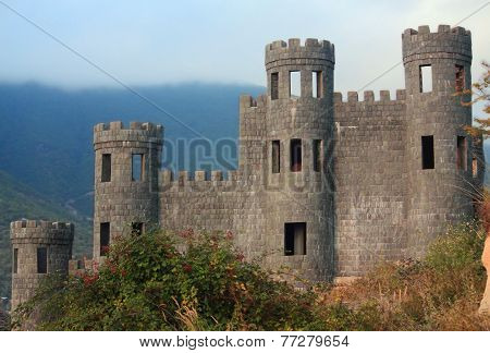 old abandoned castle in Shaki