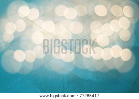 White Lights On Blue Background