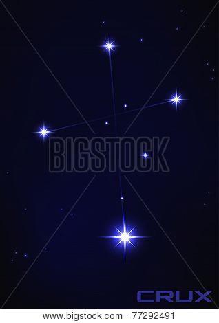 illustration of Crux constellation