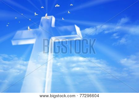 Beaming Bright Cross In Heaven