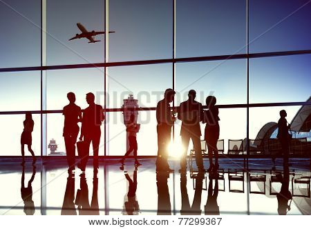 Airport Airplane Air Transportation Business Travel Concept