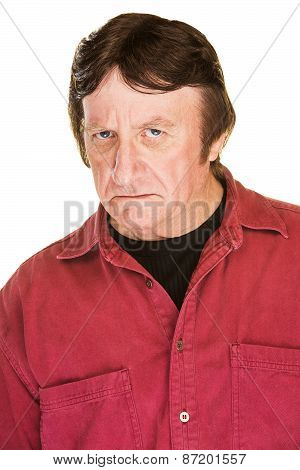 Frowning Mature Man