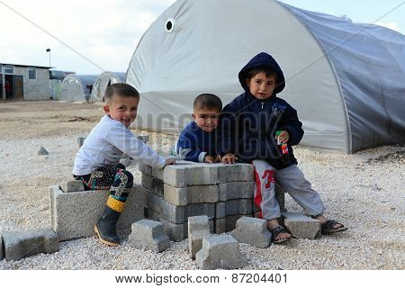 People In Refugee Camp