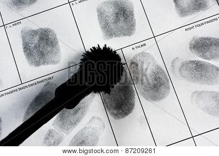 Fingerprint hand.