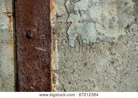 Seawall With Metal Brace - Background