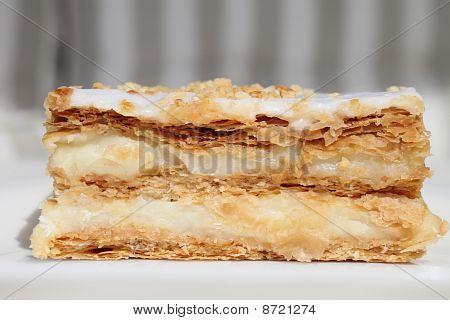 Milhojas de chocolate blanco