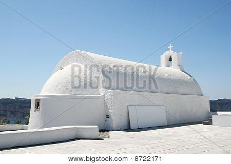 Idyllic Santorini Church
