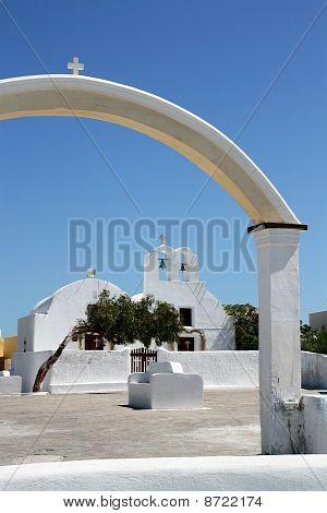Santorini Church Gate (right Part)
