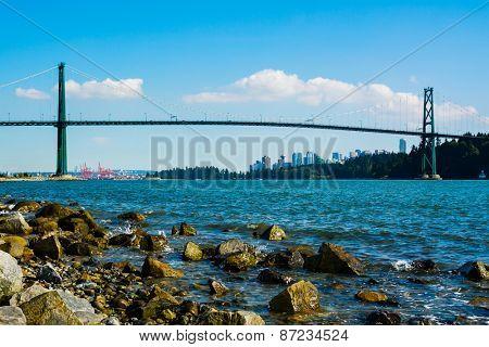 Lions Gate Bridge in Vancouver, Canada