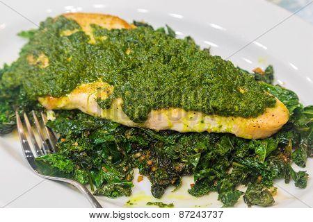 Island Fish With Pesto