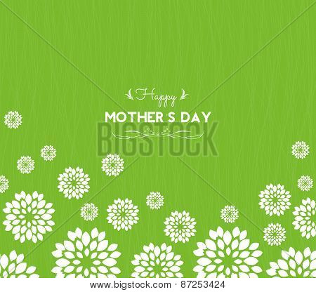 happy mother day greeting card with flowers
