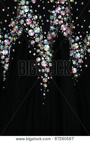Close up view of elegant dress