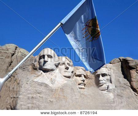 Oklahoma Flag at Mount Rushmore