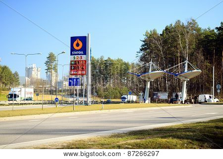 Petrol Distribution Company Statoil Station In Vilnius City