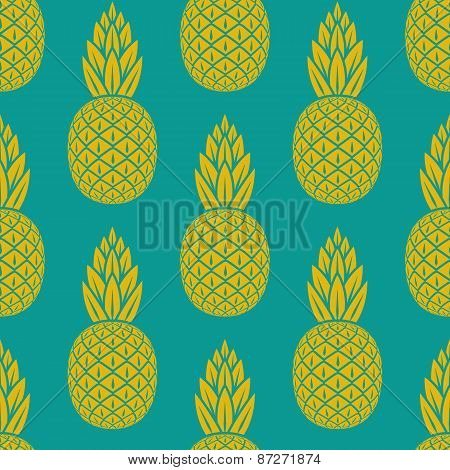pineapple tropical fruit seamless pattern