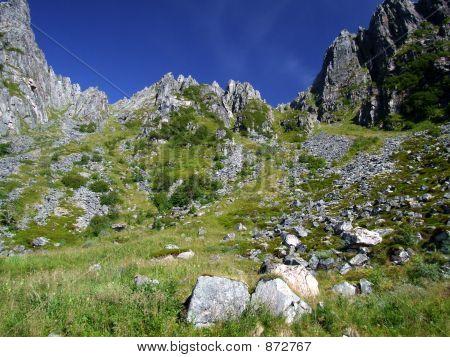 Mountain Landscape - Rockfall Valley