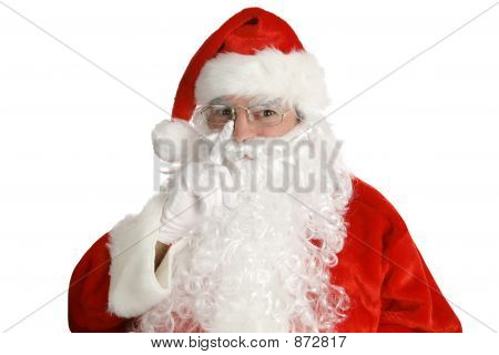 Santa Laying His Finger...