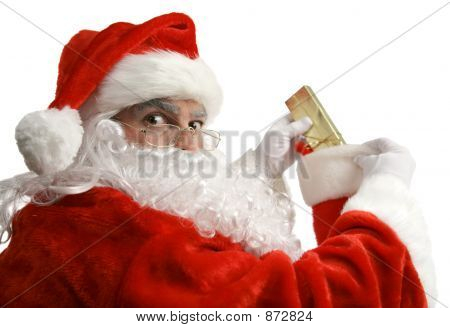 Santa Caught In Act