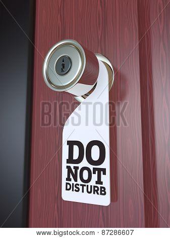 Do Not Disturb Sign on the Door Handle 3D