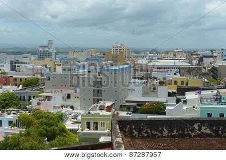 Old San Juan City Skyline, Puerto Rico