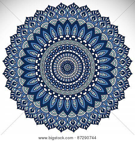 Mandalas collection. Round Ornament Pattern. Vintage decorative elements.