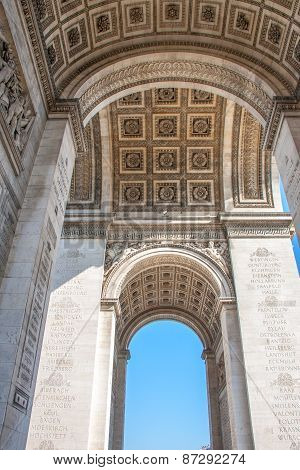 Arches -  Arch of Triumph, Arc De Triomphe, Paris, France