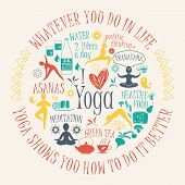 Yoga Background With Yogic Quote