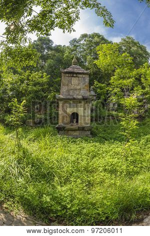 worship tower  in the  PhatTich pagoda, BacNinh provice, Vietnam