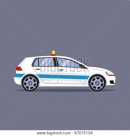 Police car vector illustration