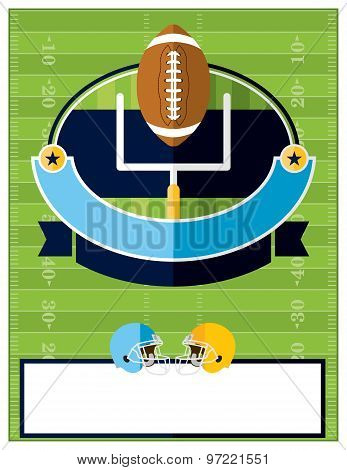 American Football Flyer Illustration