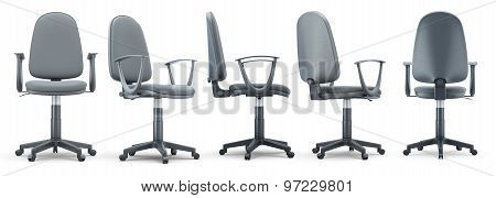Office Chair From Different Angles