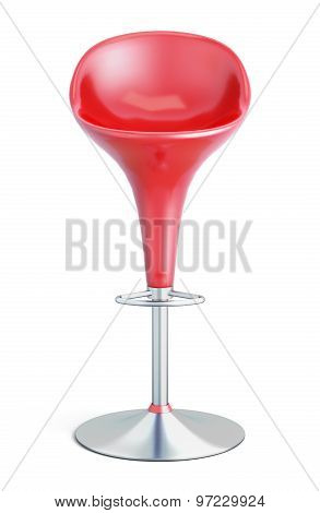 Bar Stool On A White