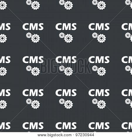 Straight black CMS settings pattern