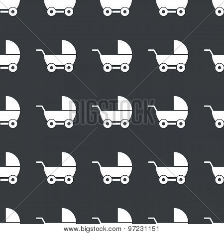 Straight black pram pattern
