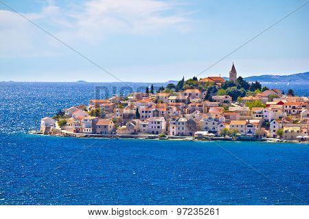Scenic town of Primosten view Dalmatia Croatia poster