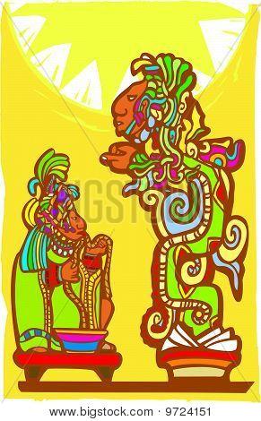 Mayan Sacrifice and Vision Serpent