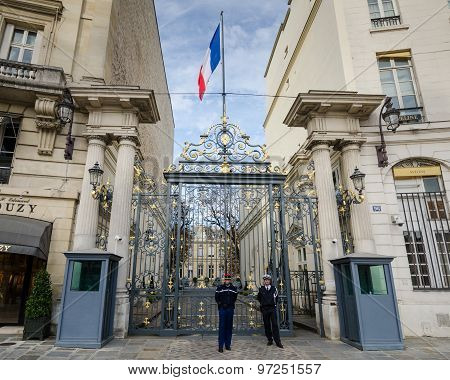 Ministry of Interior in Place Beauvau, Paris, France