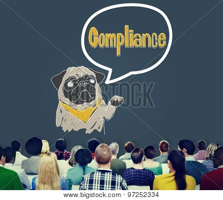 Compliance Affirmation Continuity Regulation Concept poster
