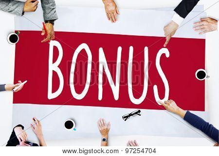 Bonus Banking Budget Compensation Income Profit Concept poster