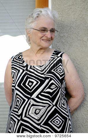 Portrait Of A Happy Senior Lady