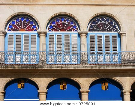 Arched colorful building