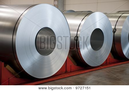 Huge Rolls Of Tinplate