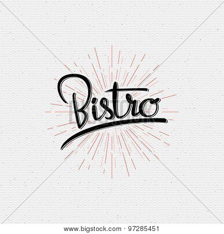 Bistro badges logos and labels for any use