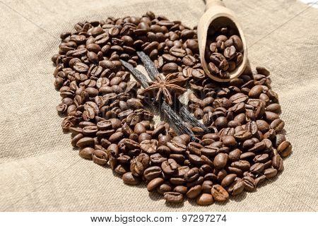 Vanilla With Coffee Grains, Cinnamon And Aniseed