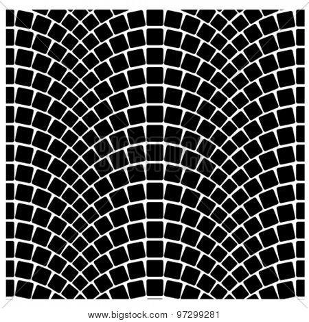 vector black seamless cobblestone pavement pattern